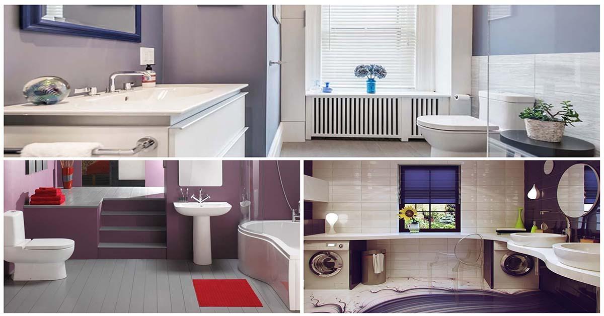 Перфектната баня в лилаво в няколко стъпки