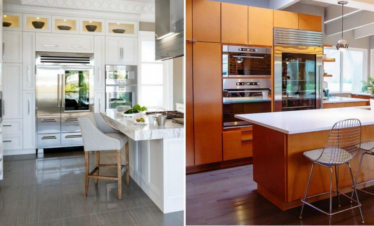 Хладилници със стъклени врати – идеи за блясък и стил в кухнята