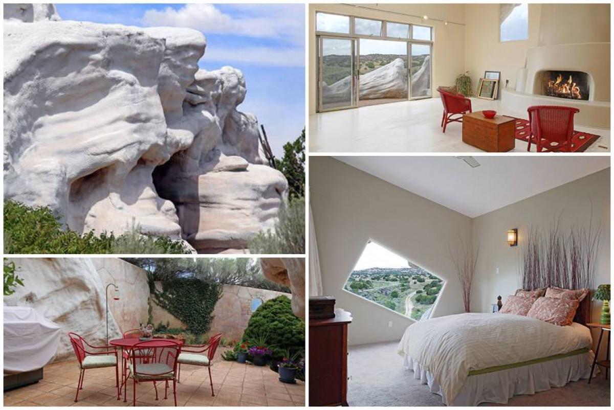 Пленително красива къща, скрита под скалите в Ню Мексико