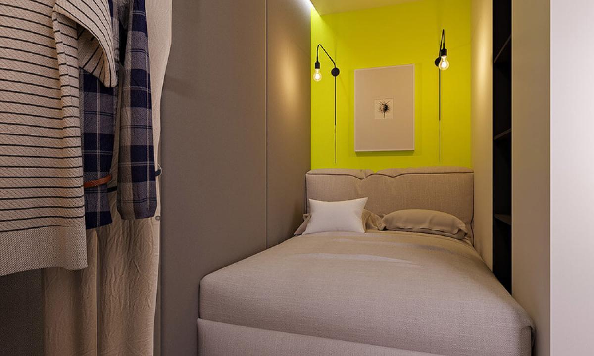 Спалнята е малка, но изключително удобна