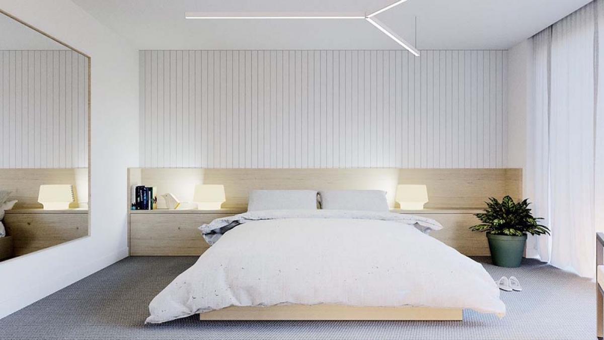 Минималистична бяла спалня - една лесно осъществима мисия