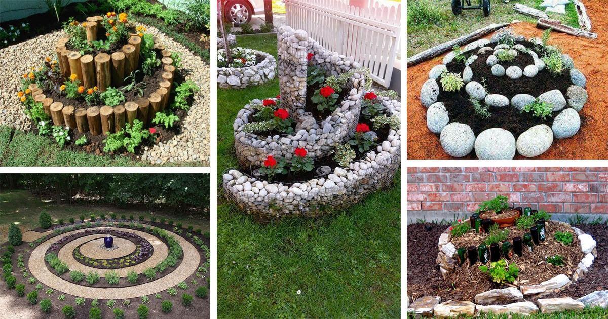 Спираловидна градина, направена от вас