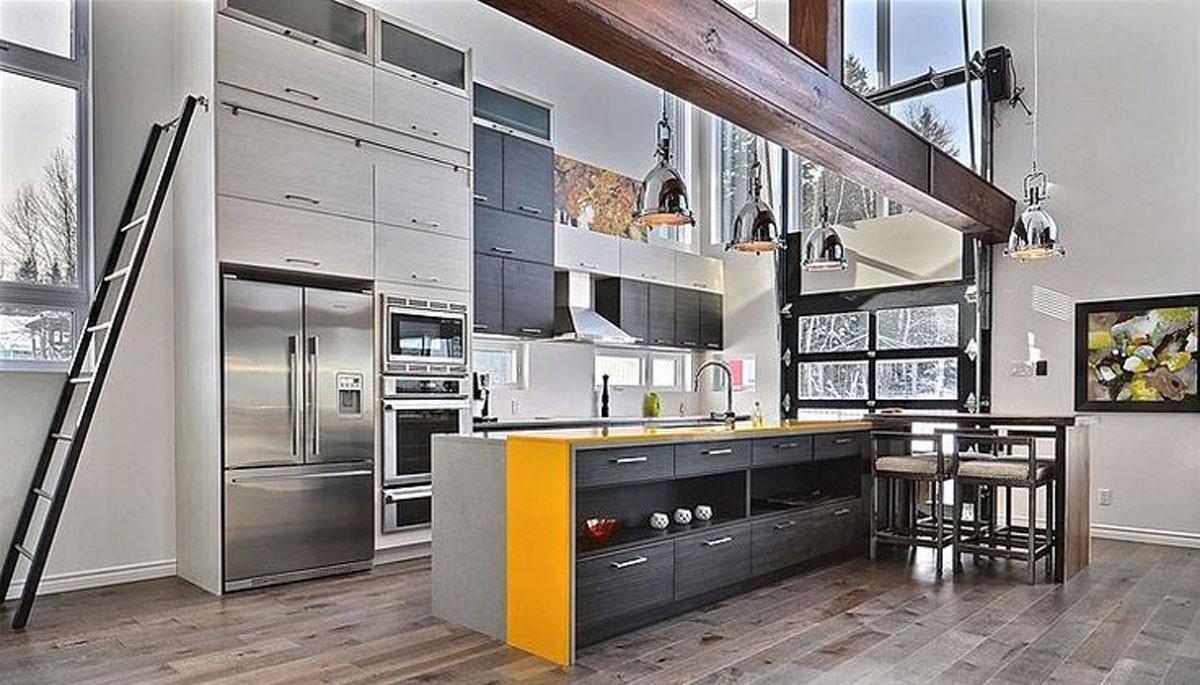 Кухня в необичайно пространство