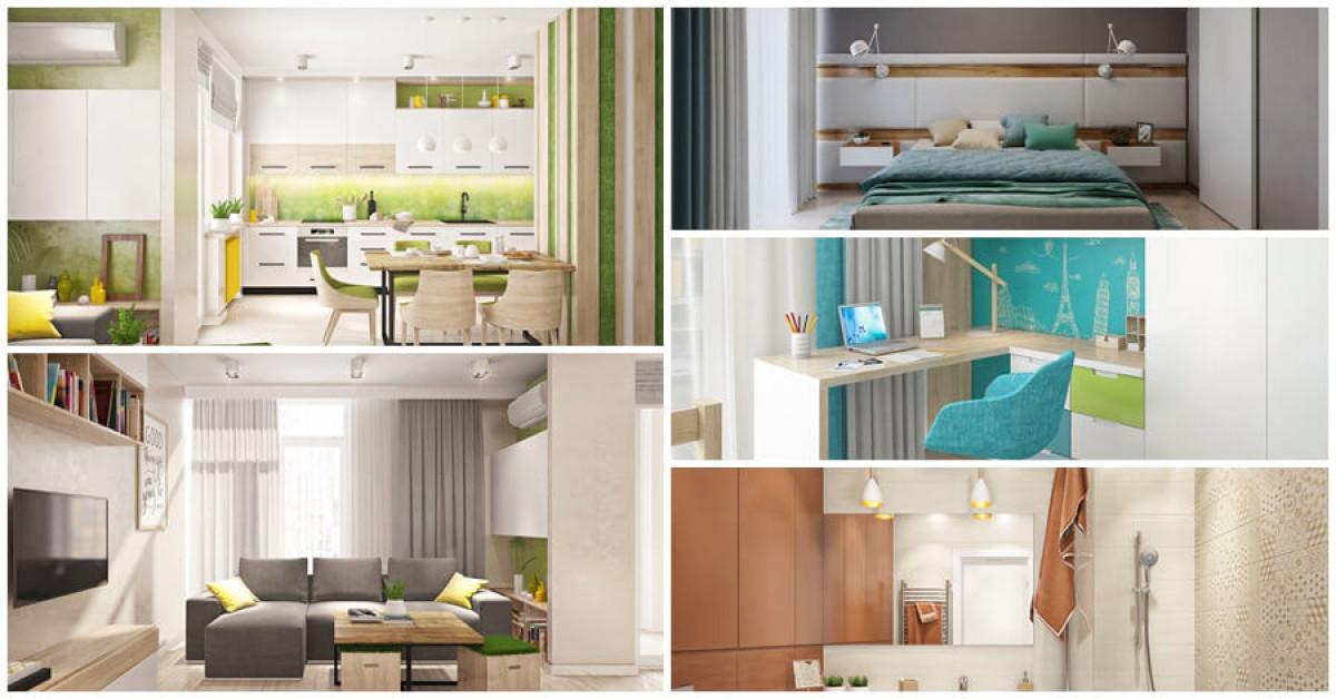 Фантастичен апартамент, подчинен на цветовете на пролетта