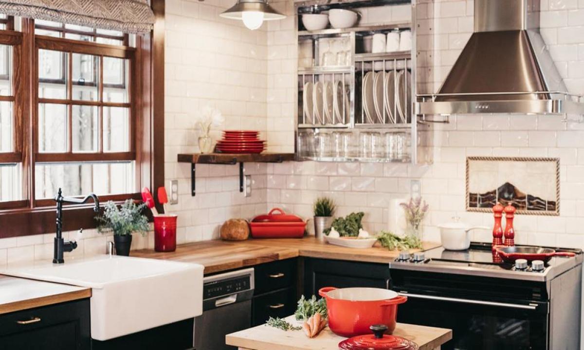 Избор на мебели за съхранение на посуда и храни в кухнята