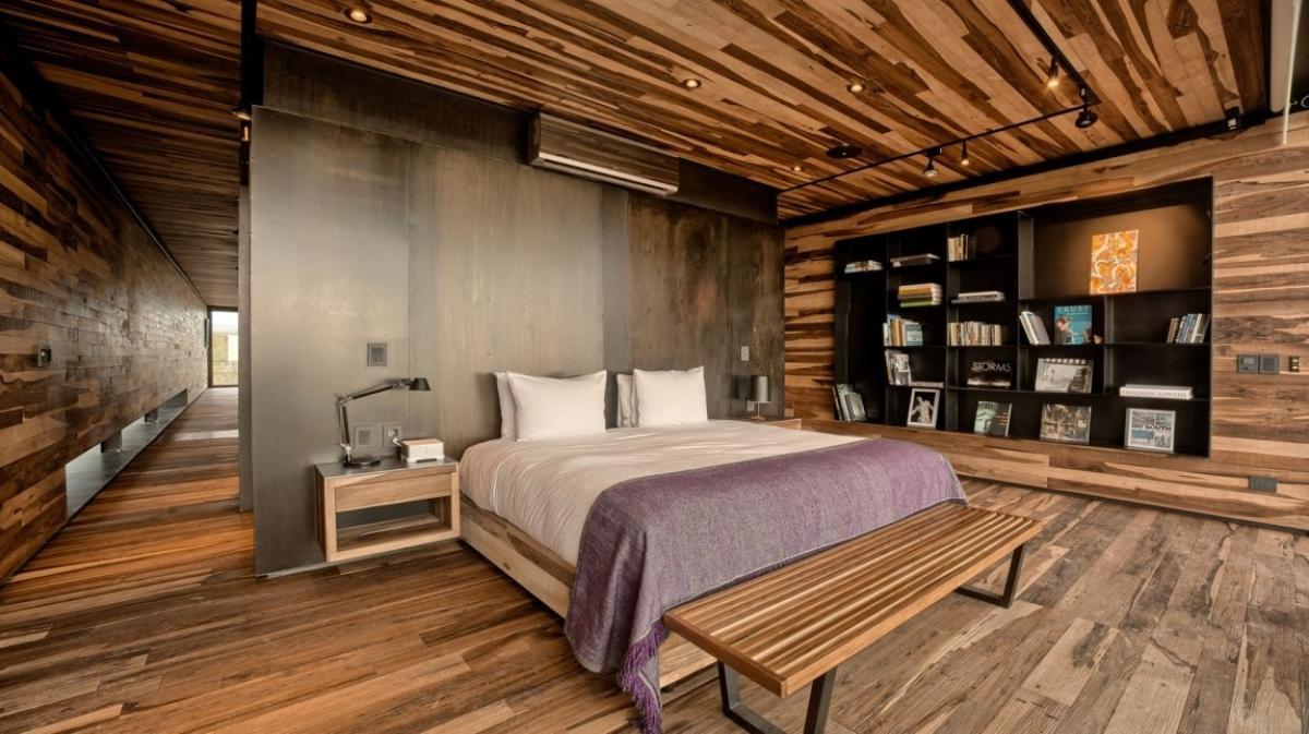Дървo в дизайна на спалнята