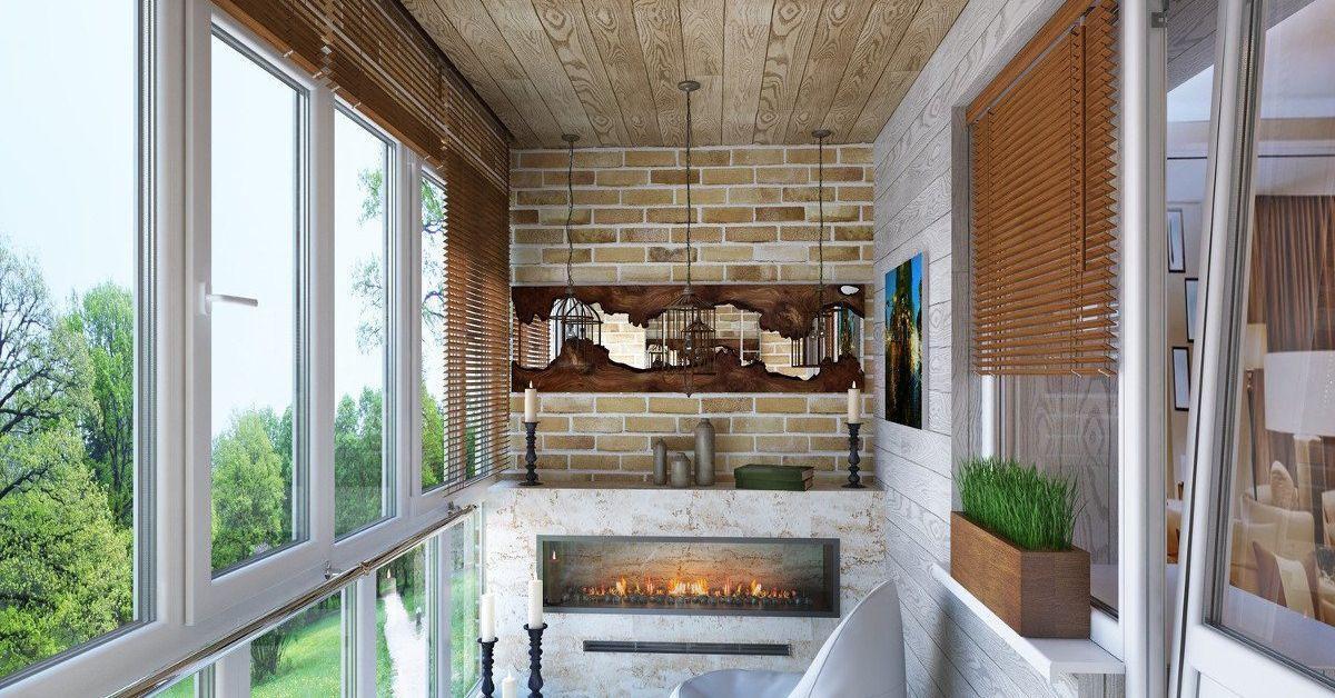 Изградете барбекю или камина на балкона