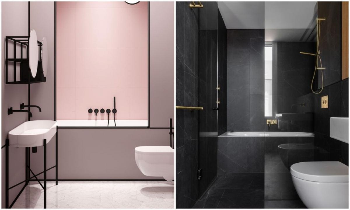 Актуални цветове в дизайна на банята