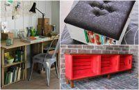 5 идеи за функционални мебели, направени от дървени щайги