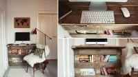 Направи си сам бюро от палети с библиотека