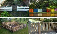 Дървени огради от палети - оригинални еко аксесоари за двора ви