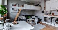 Легло на второ ниво за повече пространство, артистичен дизайн и уют в гарсониерата