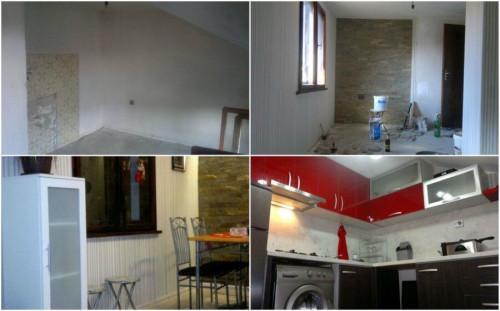 Преди и след: Вдъхновяващ български ремонт на кухня и дневна