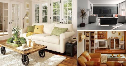 8 дизайнерски трика, които да приложите на дневната