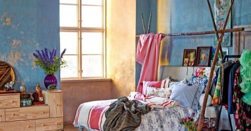 Бохемски стил в интериора на спалнята