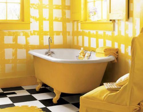 Свежа и различна баня в жълто