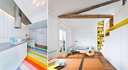 В духа на съвременното изкуство – парижки апартамент, който очарова