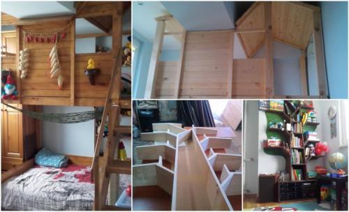 Вдъхновяващ проект побира цяла къщичка с дърво в детската стая