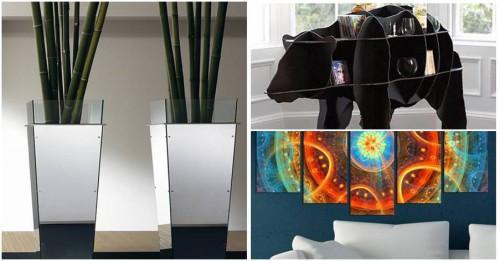 Практични творчески трикове за триизмерна декорация у дома