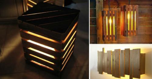 Седем страхотни лампи, направени от палети