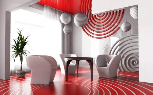 Завладяваща комбинация от фигурки от хартия с различни форми и цветове