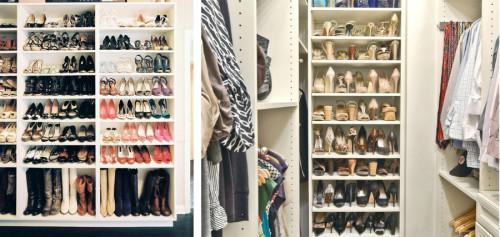 Шкафове за обувки, за които всяка жена мечтае