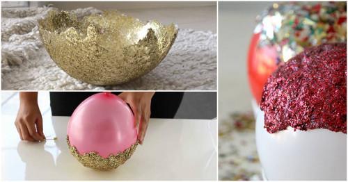 Направи си сам декоративна купичка от брокат