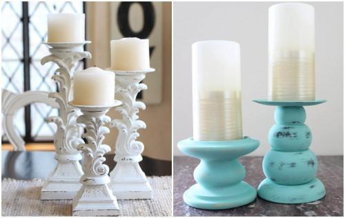 Направи си сам: свещници във винтидж стил