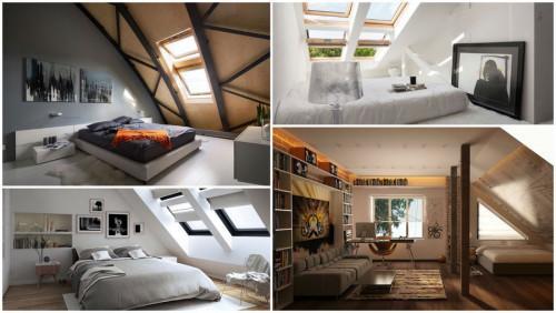 6 мансарди, превърнати в пленително красиви спални помещения