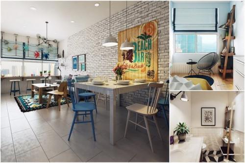 Смели комбинации и геометричност в свежия апартамент