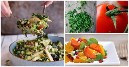 Използвайте наличните продукти за създаването на тези уникални есенни салати