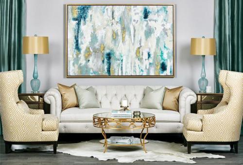 Съобразете декорациите с основния тон на помещението