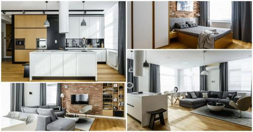 Модерен апартамент в Полша с удивителен дизайн в 89 кв.м.