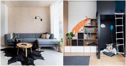 Семейно жилище с модерен интериор в скандинавски стил