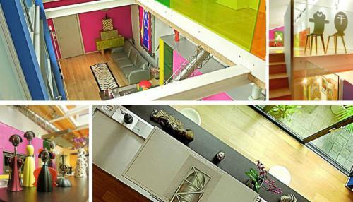 ГОТОВА Модернистичен и шарен апартамент, в който никога не е скучно