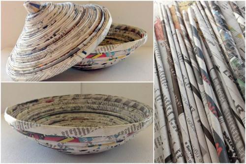 Направи си сам ефектна купичка от вестници