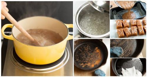Сбогувайте се с най-упоритите замърсявания по съдовете за готвене