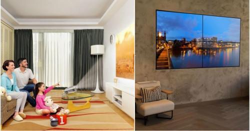 Телевизия от ново поколение - видео стена или прожектор?