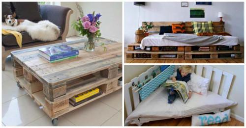 Интересни мебели от палети за всекидневната