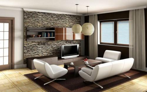 Каменна интериорна стена - интересен акцент за уютно жилище