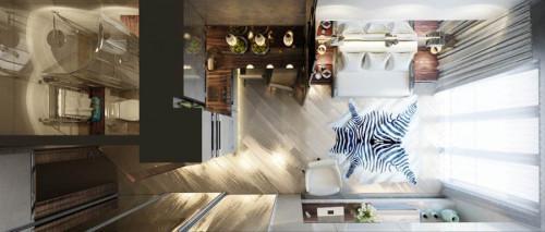 Удивителен подход за обзавеждане на един изключително малък апартамент