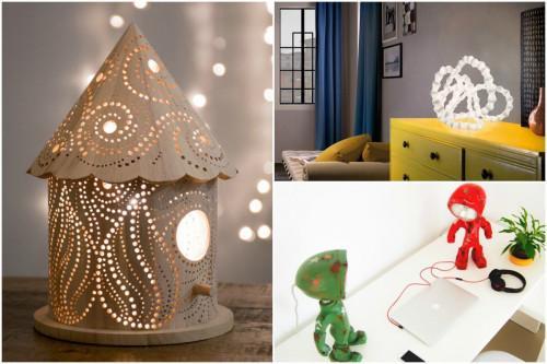 5 креативни нощни лампи за вашата спалня
