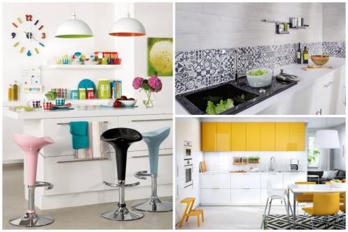 Как да внесем цвят в бялата кухня?