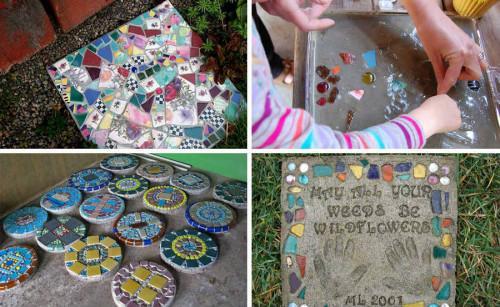 Как да направим красиви и цветни плочки за градината