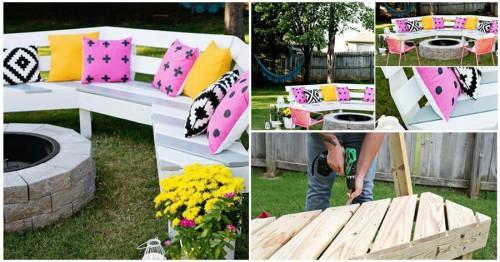 Направете сами страхотна пейка за градината в 7 лесни стъпки
