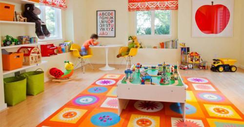 10 детски стаи с цветни килими
