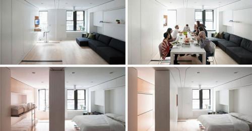 Сгъваем апартамент - функционален дом в 30 кв. м.