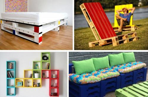 9 цветни идеи за мебели от палети