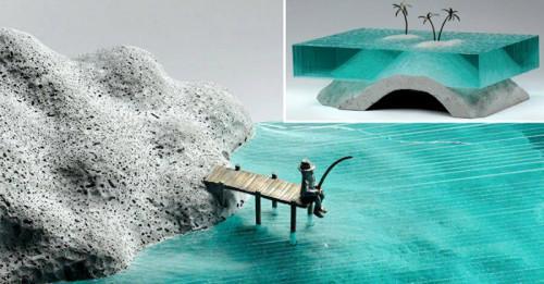 Вдъхновение за артисти: Скулптури от стъкло дават нов живот на водата