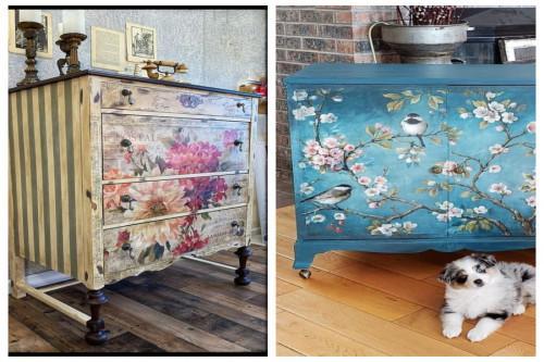 Нов облик за старите мебели с декупаж